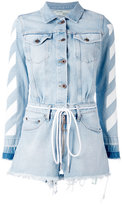 Off-White long sleeve denim playsuit - women - Cotton/Polyester - M