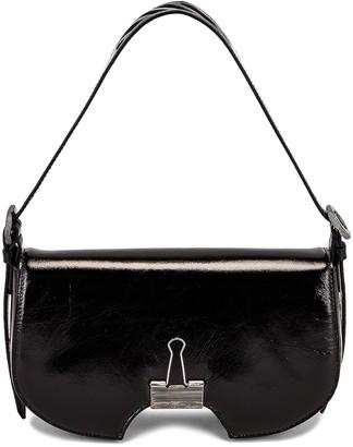 Off-White Swiss Flap Bag in Black | FWRD