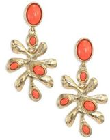 Oscar de la Renta Sea Tangle Clip-On Earrings