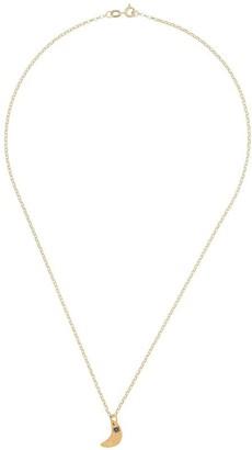 Alighieri 9kt yellow gold The Faint Moonlight sapphire necklace