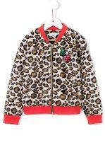 Little Marc Jacobs leopard print bomber jacket