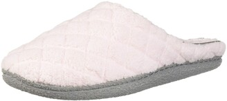 Dearfoams Women's Leslie Quilted Terry Clog Slipper