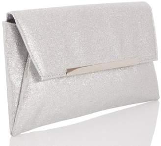 Quiz Silver Glitter Envelope Bag