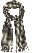 Saint Laurent Checked-wool scarf