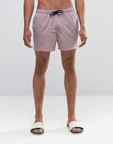 Asos Swim Shorts In Dusty Pink Short Length