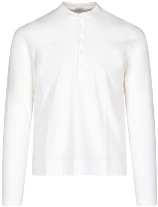 Massimo Alba Front Buttoning Long Sleeved T-shirt