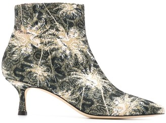 Polly Plume Janis floral ankle boots