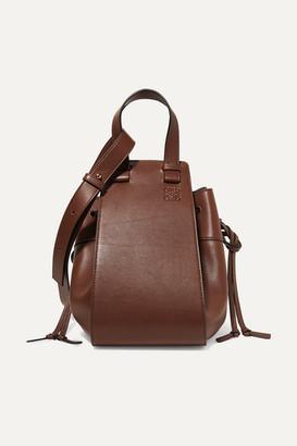 Loewe Hammock Medium Leather Shoulder Bag - Chocolate