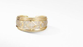 David Yurman Renaissance Cuff Bracelet In 18K Yellow Gold With Full