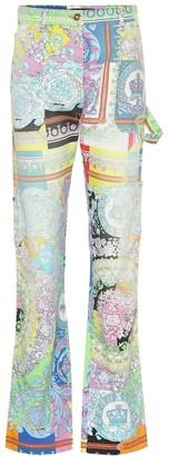 Versace Printed denim jeans