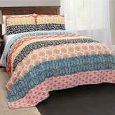 Lush Decor Bohemian Stripe 3-piece Quilt Set