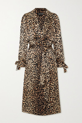 Tom Ford Leopard-print Silk Trench Coat - Leopard print