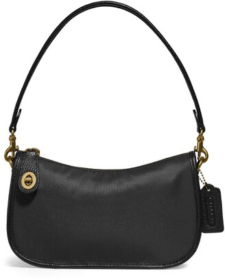 Coach Leather-Trim Originals Swinger Shoulder Bag