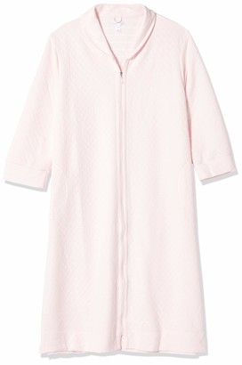 Carole Hochman Women's Plus Size Quilted Zip Robe