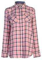 Soul Cal SoulCal Womens LS Check Shirt Long Sleeve Casual Chest Pocket Fold Over Collar