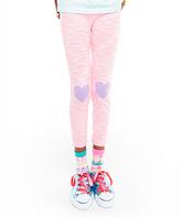 LittleMissMatched Hot Pink 'Hi Bye' Leggings - Girls