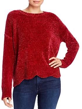 Aqua Scalloped Chenille Sweater - 100% Exclusive
