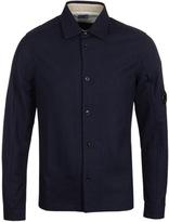 Cp Company Navy Wool Goggle Overshirt