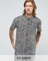 Reclaimed Vintage Chiffon Party Shirt In Regular Fit