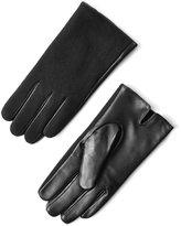 Frank & Oak Wool & Leather Gloves in Black
