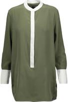 Equipment Ian washed-silk blouse