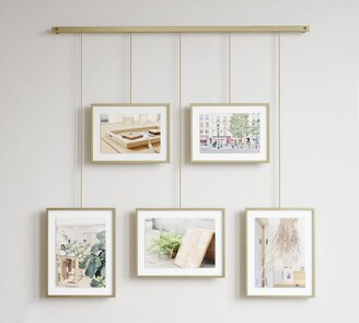 Pottery Barn Hanging Brass Gallery Frames, Set of 5