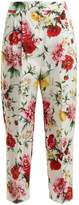 Dolce & Gabbana Floral-print straight-leg trousers
