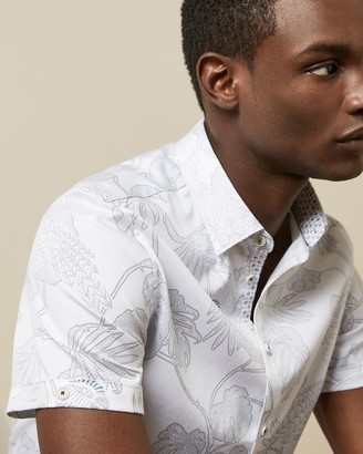 Ted Baker DOWNDOG Cotton printed shirt