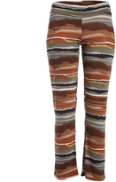 Glam Rust & Gray Abstract Straight-Leg Pants - Plus