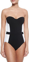 Tory Burch Lipsi Two-Tone One-Piece Swimsuit