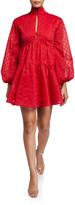 C/Meo Dignity High-Neck Blouson-Sleeve Dress