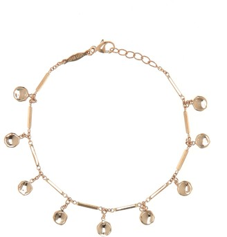 Jacquie Aiche 14kt Gold Disc And Bar Bracelet