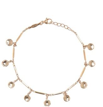 Jacquie Aiche 14kt gold disc and bar bracelet