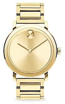 Movado Men's BOLD Evolution Light Gold Ion-Plated Stainless Steel Bracelet Watch
