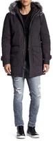 Antony Morato Genuine Racoon Fur Hooded Jacket