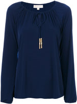 MICHAEL Michael Kors tie neck blouse - women - Polyester/Spandex/Elastane - XS