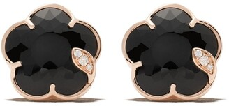 Pasquale Bruni 18kt rose gold Petit Joli onyx and diamond studs