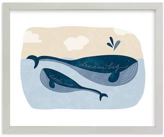 Pottery Barn Kids Little Whale Wall Art by Minted® 8x10, White
