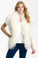 Merino Vest with Genuine Mongolian Lamb Fur