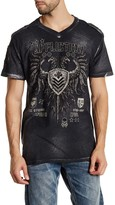 Affliction Value Short Sleeve V-Neck Graphic Tee