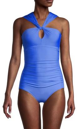Calvin Klein Asymmetrical 1-Piece Swimsuit