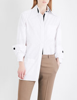 Christopher Kane Convertible-collar cotton-poplin shirt
