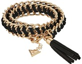 GUESS Woven Chain Wrap Bracelet with Tassel