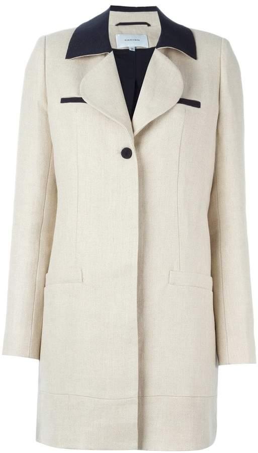 Carven contrast collar coat