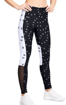 Under Armour Women's HeatGear Colorblocked Logo-Print Leggings