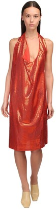 Bottega Veneta Mirrored Knit Jersey Knee-length Dress