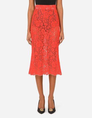 Dolce & Gabbana Cordonetto Lace Midi Skirt