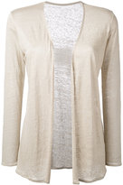 Majestic Filatures open cardigan - women - Linen/Flax - 3