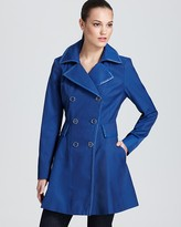 Via Spiga Double Breasted Skirted Trench with Piping