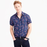 J.Crew Short-sleeve seersucker shirt in swordfish print